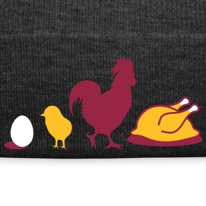 Egg,chick, rooster and chicken poultry Evolution Caps & Hats - Winter Hat