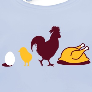Egg,chick, rooster and chicken poultry Evolution Accessories - Baby Organic Bib