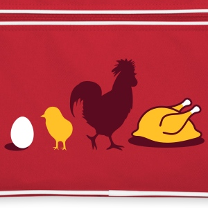 Egg,chick, rooster and chicken poultry Evolution Bags  - Retro Bag