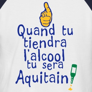 quand tiendra alcool sera aquitain Tee shirts - T-shirt baseball manches courtes Homme
