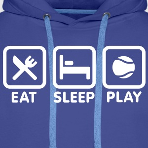 Eat Sleep Playing Tennis Hoodies & Sweatshirts - Men's Premium Hoodie