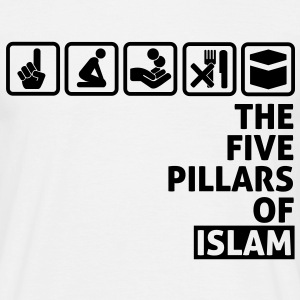 Five Pillars of Islam - Black - Men's T-Shirt
