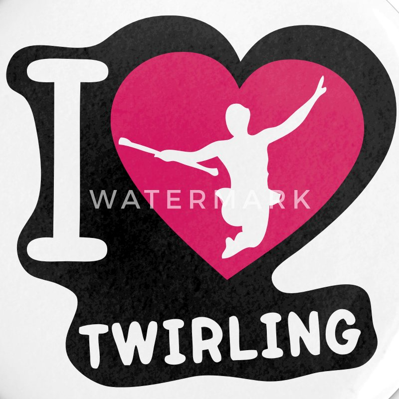 i love coeur sport twirling baton6 Badges - Badge petit 25 mm