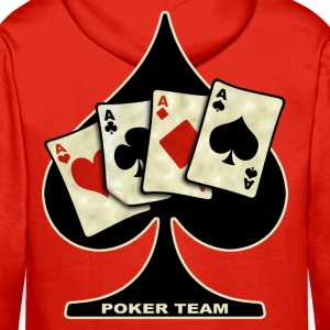 poker team design Sweat-shirts - Sweat-shirt à capuche Premium pour hommes