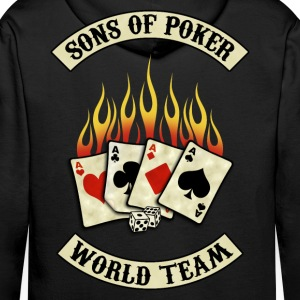 sons of poker team Sweat-shirts - Sweat-shirt à capuche Premium pour hommes