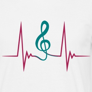 clef_pulse T-shirts - Herre-T-shirt