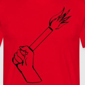 In keeping with the rise of pyrotechnics in football - Men's T-Shirt