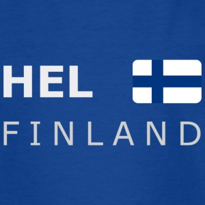 Teenager T-Shirt HEL FINLAND white-lettered - Teenage T-shirt