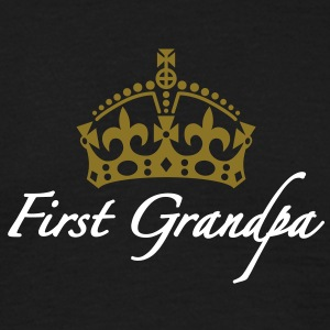 First Grandpa | Crown | Krone T-Shirts - Maglietta da uomo