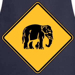 Caution Elephant Crossing Sign - Cooking Apron