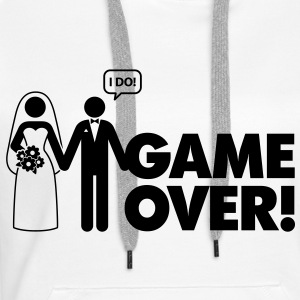 Game Over 2 (1c)++ Gensere - Premium hettegenser for kvinner