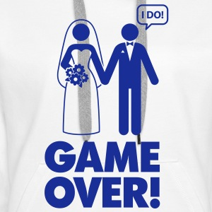 Game Over 1 (1c)++ Gensere - Premium hettegenser for kvinner