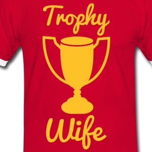 trophy wife with a gold trophy T-Shirts - Men's Ringer Shirt