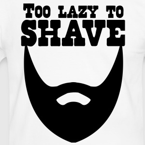 too lazy to shave full beard T-Shirts - Men's Ringer Shirt