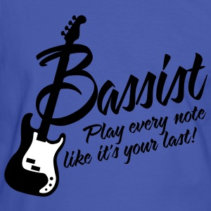 bassist play every note like its your last T-Shirts - Männer Kontrast-T-Shirt