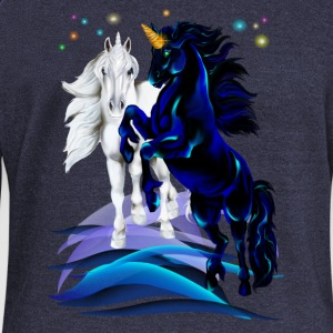Two Unicorn Stallions Hoodies & Sweatshirts - Women's Boat Neck Long Sleeve Top