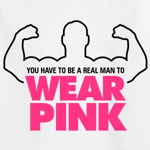 Real Man Wear Pink 1 (2c)++ Barn-T-shirts - T-shirt tonåring