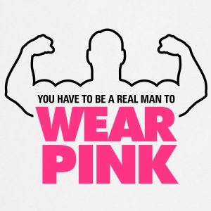 Real Man Wear Pink 1 (2c)++ Kookschorten - Keukenschort