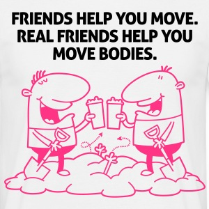 Real Friends Help 2 (2c)++ T-shirts - Mannen T-shirt