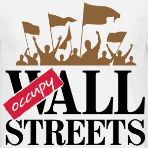Occupy Wall Streets 3 (dd)++ T-shirts - Herre-T-shirt