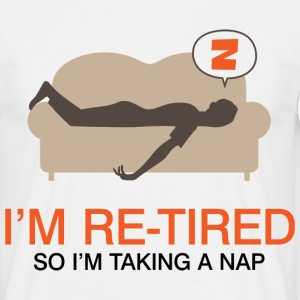 Retired Taking Nap 4 (dd)++ Tee shirts - T-shirt Homme