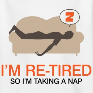 Retired Taking Nap 4 (dd)++ Kids' Shirts - Teenage T-shirt