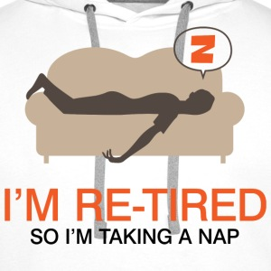 Retired Taking Nap 4 (dd)++ Sweatshirts - Herre Premium hættetrøje