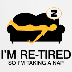 Retired Taking Nap 4 (2c)++ Tabliers - Tablier de cuisine