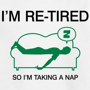 Retired Taking Nap 3 (2c)++ Camisetas niños - Camiseta adolescente