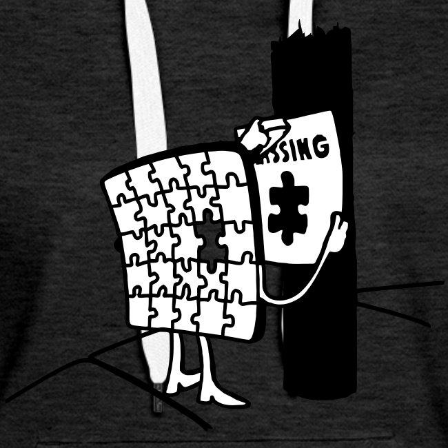 Puzzle Missing, Vermißt ein stück seiner selbst Pullover
