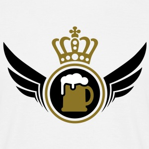Beer Lord | Wings | Crown | Krone T-Shirts - Mannen T-shirt