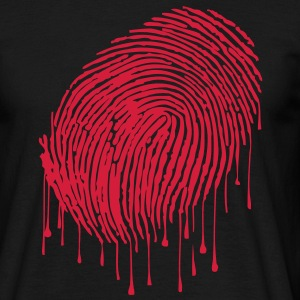 Fingerprint T-shirts - Herre-T-shirt