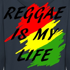 reggae is my life Hoodies & Sweatshirts - Men's Premium Hooded Jacket