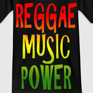 reggae music power Skjorter - T-skjorte for tenåringer