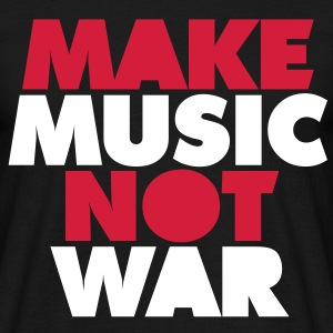 Make Music Not War T-skjorter - T-skjorte for menn