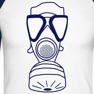 gas mask Long sleeve shirts - Men's Long Sleeve Baseball T-Shirt