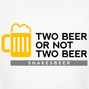 Two Beer Shakesbeer 2 (dd)++ T-shirts - Mannen Bio-T-shirt