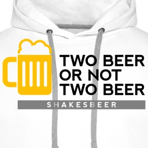 Two Beer Shakesbeer 2 (dd)++ Gensere - Premium hettegenser for menn