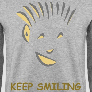 Men's SweatShirt White K-Smile - Men's Sweatshirt