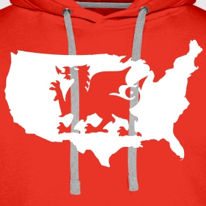 USA Welsh Dragon Hoodies & Sweatshirts - Men's Premium Hoodie
