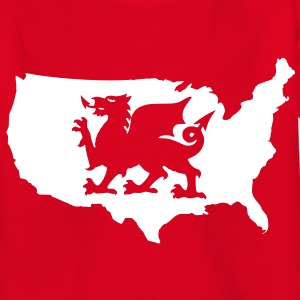 USA Welsh Dragon Kids' Shirts - Teenage T-shirt