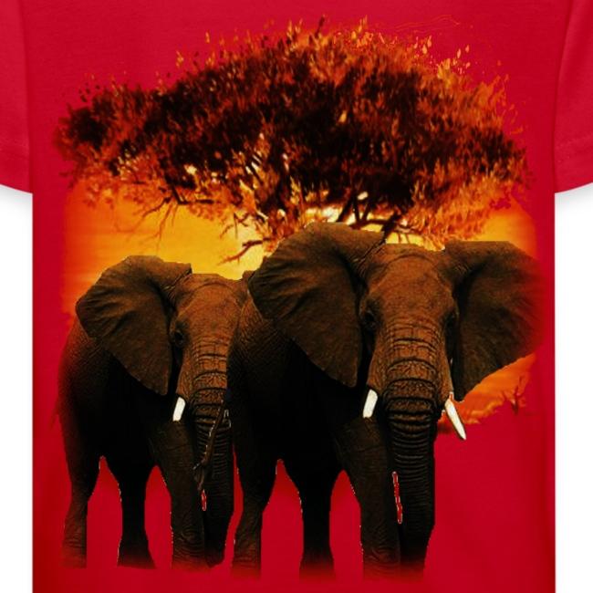 T shirt enfant éléphants