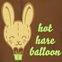 Hot Hare Balloon - Ladies hoodie