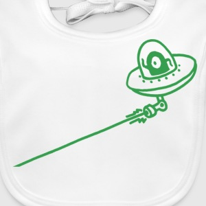 UFO Attack! (pixel) Accessories - Baby Organic Bib