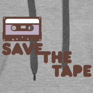 Save the tape Sweat-shirts - Sweat-shirt à capuche Premium pour femmes