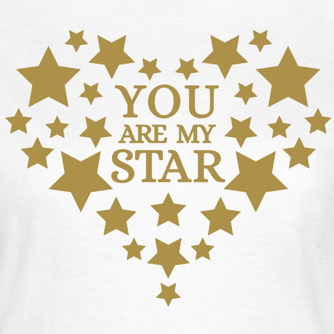 You are my star - Goud fijn glitter
