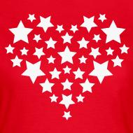 Ontwerp ~ Star heart - Wit fijn glitter