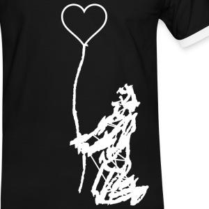 in my heart T-Shirts - Männer Kontrast-T-Shirt