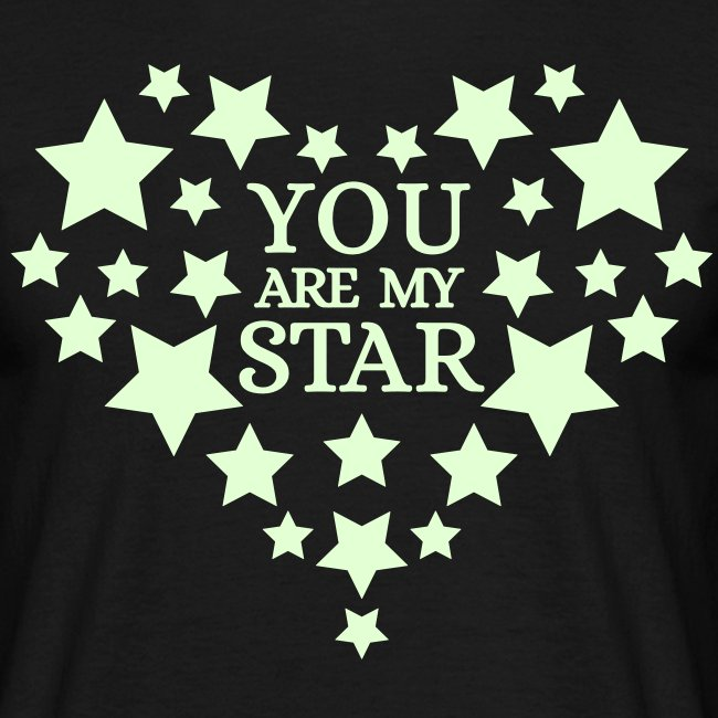 You are my star - Glow in the dark