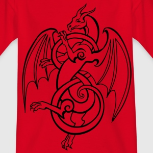 Keltischer Drache - Teenager T-Shirt